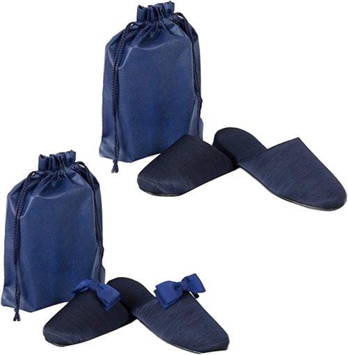 【収納袋&リボンクリップ付】グログラン製フォーマルお受験スリッパ