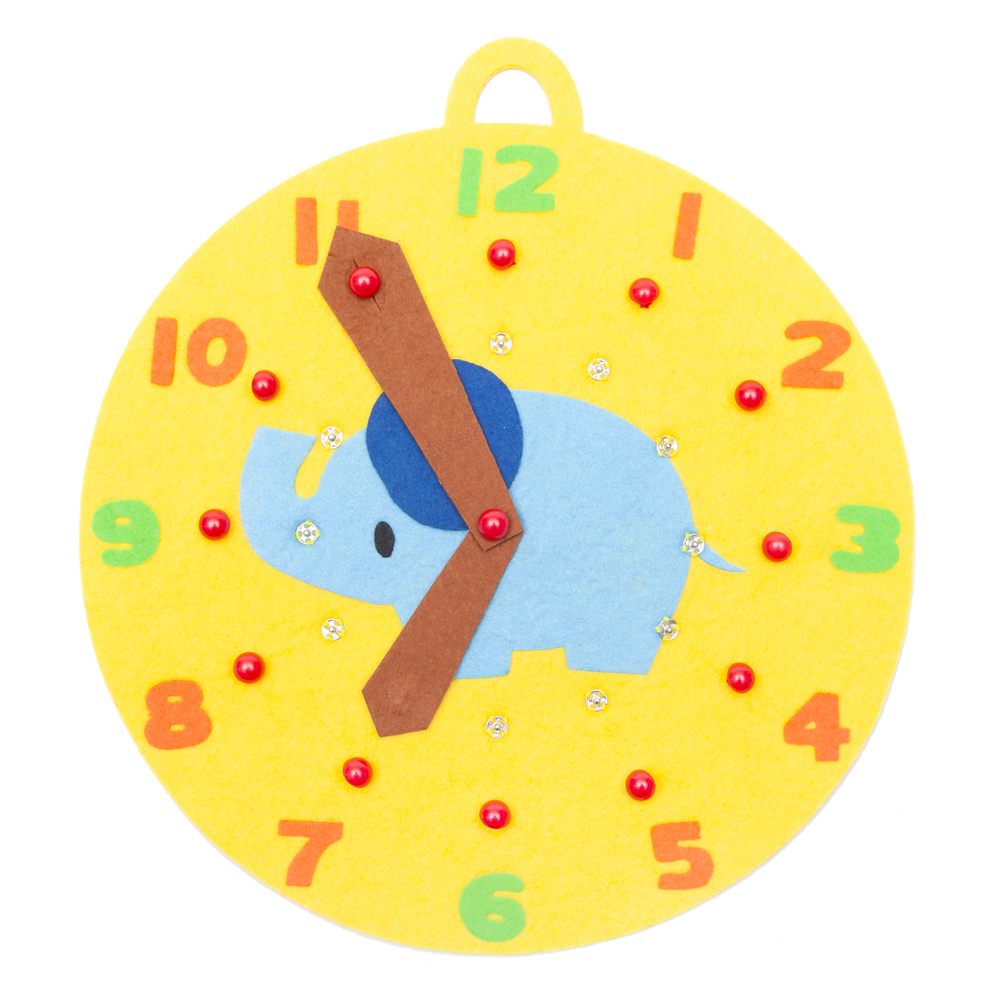 ボタンはめ時計 ぞうさん ハンドメイド  当店オリジナル 日本製