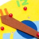 ボタンはめ時計 ぞうさん ハンドメイド  当店オリジナル 日本製 時計の読み方ポスター付