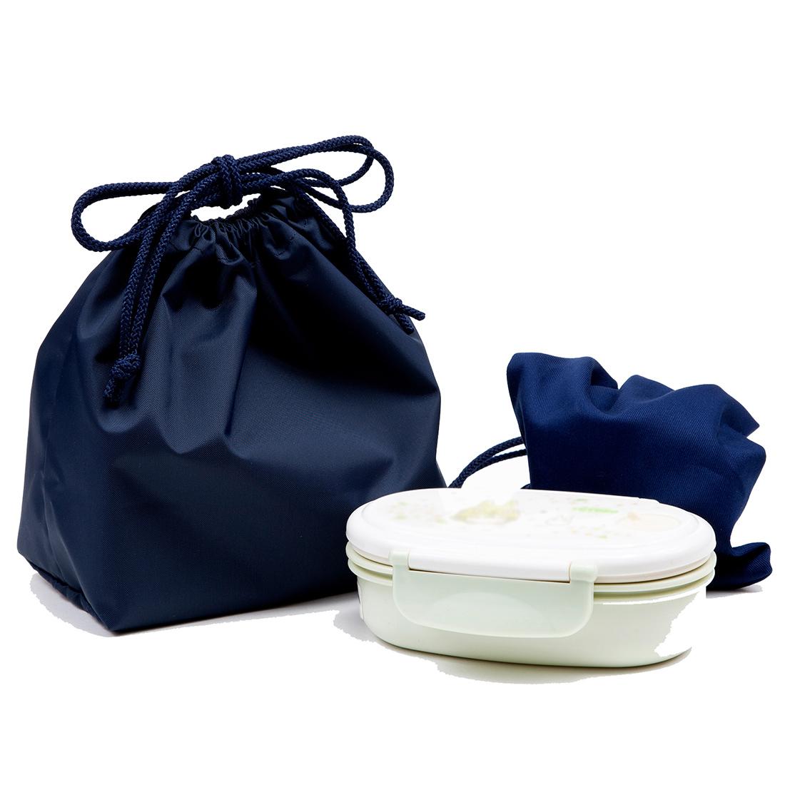 制菌・抗菌防臭 衛生紺色無地お弁当袋 バイオライナー製