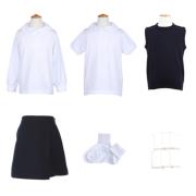 【幼稚園お受験用】ベスト付 女の子用お受験服セット