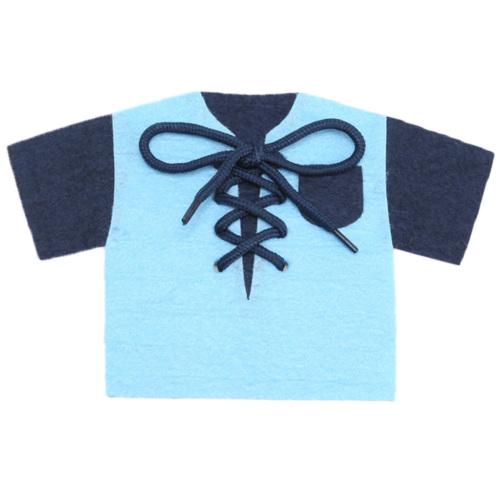 手作りフェルト教材【Tシャツ ひもとおし】