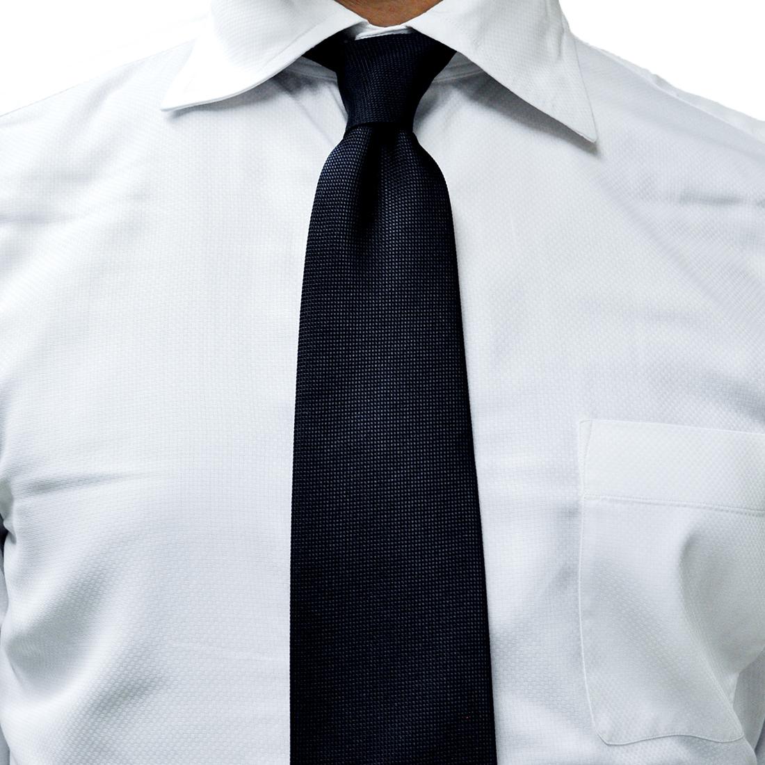 メイドイン東京 完全オリジナル お受験用お父様用ネクタイ 濃紺無地