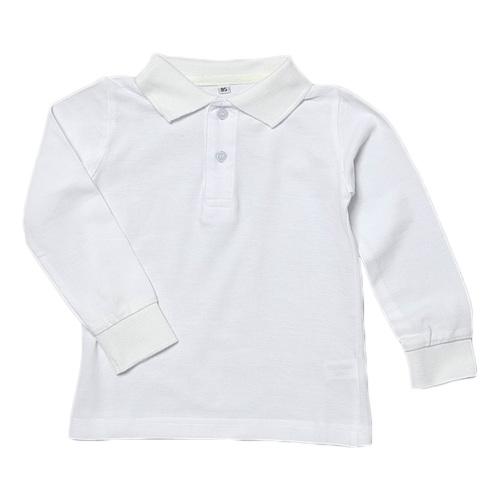長袖かのこポロシャツ【白】
