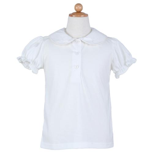 綿100%丸襟半袖ブラウス
