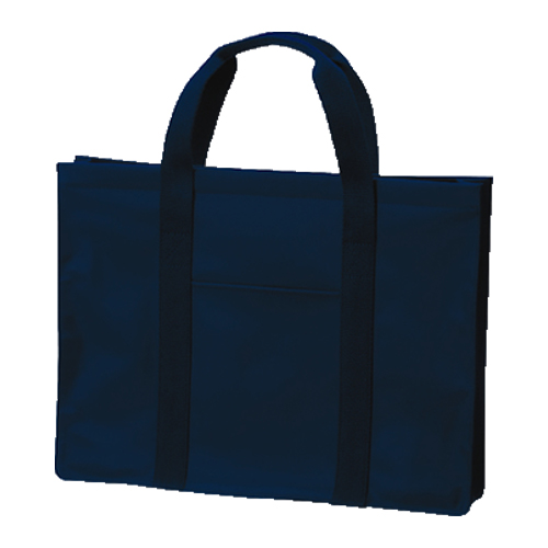 [H型]紺色ナイロン製レッスンバッグ