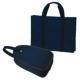 [H型]紺色ナイロン製レッスンバッグ&シューズバッグ