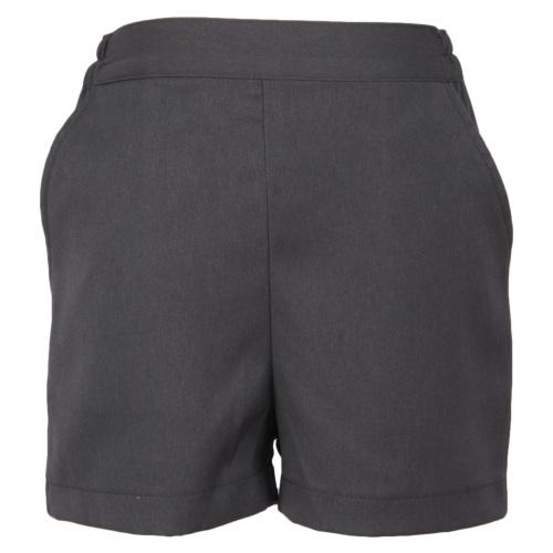 【グレー無地】後ろゴム半ズボン