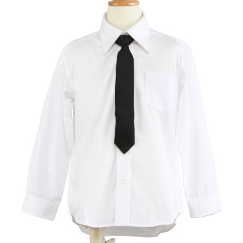男のお子様用 長袖ホワイトシャツ